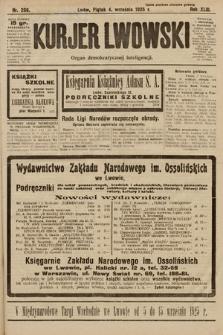 Kurjer Lwowski : organ demokratycznej inteligencji. 1925, nr206