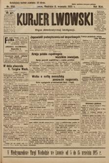 Kurjer Lwowski : organ demokratycznej inteligencji. 1925, nr208
