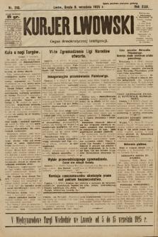 Kurjer Lwowski : organ demokratycznej inteligencji. 1925, nr210