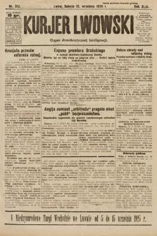 Kurjer Lwowski : organ demokratycznej inteligencji. 1925, nr213