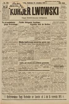 Kurjer Lwowski : organ demokratycznej inteligencji. 1925, nr214
