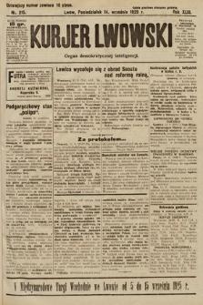 Kurjer Lwowski : organ demokratycznej inteligencji. 1925, nr215