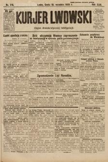 Kurjer Lwowski : organ demokratycznej inteligencji. 1925, nr216