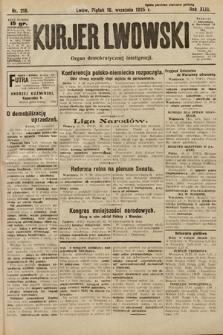 Kurjer Lwowski : organ demokratycznej inteligencji. 1925, nr218