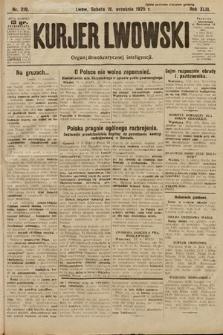 Kurjer Lwowski : organ demokratycznej inteligencji. 1925, nr219