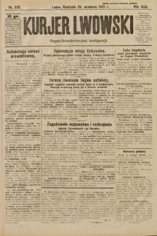 Kurjer Lwowski : organ demokratycznej inteligencji. 1925, nr220
