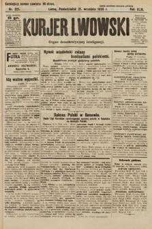 Kurjer Lwowski : organ demokratycznej inteligencji. 1925, nr221