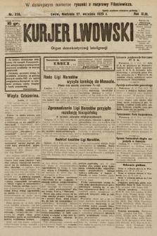 Kurjer Lwowski : organ demokratycznej inteligencji. 1925, nr226