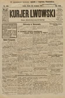 Kurjer Lwowski : organ demokratycznej inteligencji. 1925, nr228