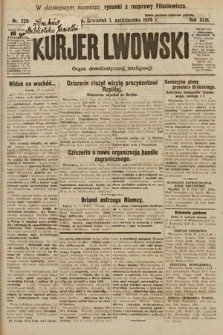 Kurjer Lwowski : organ demokratycznej inteligencji. 1925, nr229