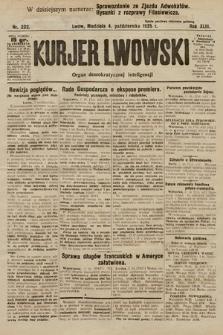 Kurjer Lwowski : organ demokratycznej inteligencji. 1925, nr232