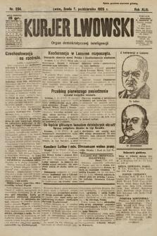 Kurjer Lwowski : organ demokratycznej inteligencji. 1925, nr234