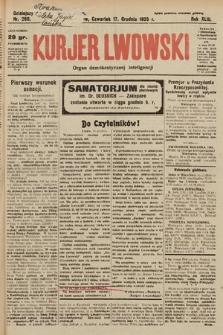 Kurjer Lwowski : organ demokratycznej inteligencji. 1925, nr280