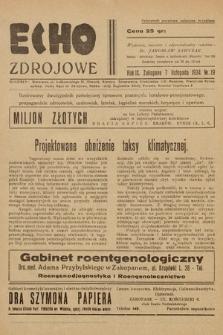 Echo Zdrojowe : ilustrowany dwutygodnik poświęcony sprawom przemysłu hotelowo-pensjonatowego, propagandzie zdrojowisk, uzdrowisk, letnisk, kapielisk morskich, turystyce i sportom. 1934, nr19