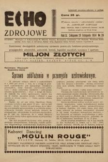 Echo Zdrojowe : ilustrowany dwutygodnik poświęcony sprawom przemysłu hotelowo-pensjonatowego, propagandzie zdrojowisk, uzdrowisk, letnisk, kapielisk morskich, turystyce i sportom. 1934, nr20