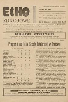 Echo Zdrojowe : ilustrowany dwutygodnik poświęcony sprawom przemysłu hotelowo-pensjonatowego, propagandzie zdrojowisk, uzdrowisk, letnisk, kapielisk morskich, turystyce i sportom. 1934, nr21