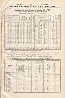 Miasto Kraków : sprawozdanie statystyczne za miesiąc luty 1929 = Ville de Cracovie : bulletin mensuel de statistique municipale pour février 1929