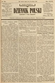 Dziennik Polski (wydanie popołudniowe). 1904, nr291