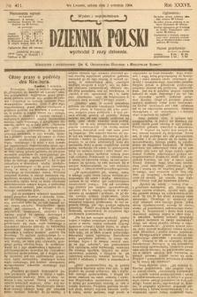 Dziennik Polski (wydanie popołudniowe). 1904, nr411