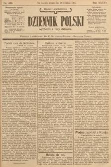 Dziennik Polski (wydanie popołudniowe). 1904, nr438