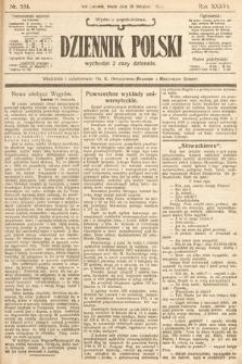 Dziennik Polski (wydanie popołudniowe). 1904, nr534