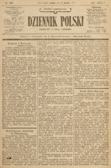 Dziennik Polski (wydanie popołudniowe). 1904, nr587