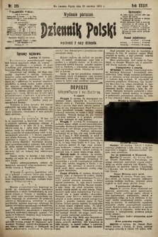 Dziennik Polski (wydanie poranne). 1901, nr225