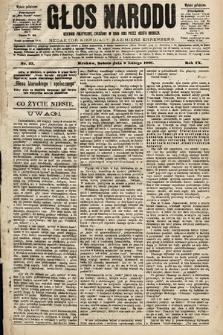 Głos Narodu : dziennik polityczny, założony w roku 1893 przez Józefa Rogosza (wydanie południowe). 1901, nr33