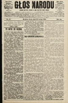 Głos Narodu : dziennik polityczny, założony w roku 1893 przez Józefa Rogosza (wydanie południowe). 1901, nr42