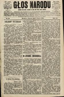 Głos Narodu : dziennik polityczny, założony w roku 1893 przez Józefa Rogosza (wydanie południowe). 1901, nr53