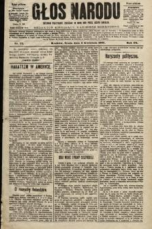 Głos Narodu : dziennik polityczny, założony w roku 1893 przez Józefa Rogosza (wydanie południowe). 1901, nr77