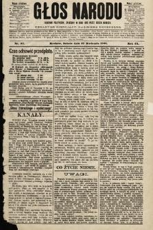Głos Narodu : dziennik polityczny, założony w roku 1893 przez Józefa Rogosza (wydanie południowe). 1901, nr97