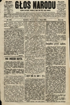 Głos Narodu : dziennik polityczny, założony w roku 1893 przez Józefa Rogosza (wydanie południowe). 1901, nr104
