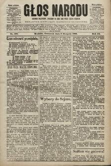 Głos Narodu : dziennik polityczny, założony w roku 1893 przez Józefa Rogosza (wydanie południowe). 1901, nr179
