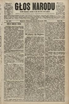 Głos Narodu : dziennik polityczny, założony w roku 1893 przez Józefa Rogosza (wydanie południowe). 1901, nr190