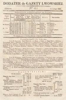 Dodatek do Gazety Lwowskiej : doniesienia urzędowe. 1842, nr15
