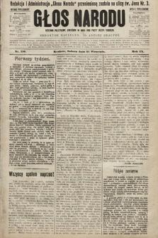 Głos Narodu : dziennik polityczny, założony w roku 1893 przez Józefa Rogosza (wydanie południowe). 1901, nr216