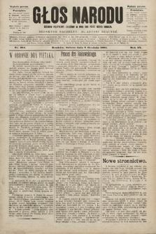 Głos Narodu : dziennik polityczny, założony w roku 1893 przez Józefa Rogosza (wydanie poranne). 1901, nr281