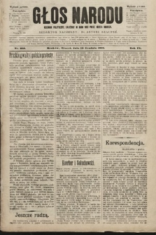 Głos Narodu : dziennik polityczny, założony w roku 1893 przez Józefa Rogosza (wydanie poranne). 1901, nr283