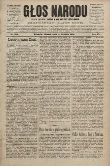 Głos Narodu : dziennik polityczny, założony w roku 1893 przez Józefa Rogosza (wydanie poranne). 1901, nr289