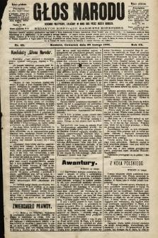Głos Narodu : dziennik polityczny, założony w roku 1893 przez Józefa Rogosza (wydanie południowe). 1901, nr49