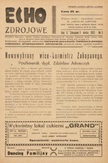 Echo Zdrojowe : ilustrowany dwutygodnik poświęcony sprawom przemysłu hotelowo-pensjonatowego, propagandzie zdrojowisk, uzdrowisk, letnisk, kąpielisk morskich, turystyce i sportom. 1935, nr5