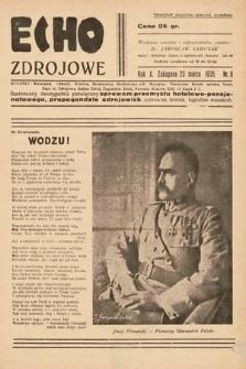 Echo Zdrojowe : ilustrowany dwutygodnik poświęcony sprawom przemysłu hotelowo-pensjonatowego, propagandzie zdrojowisk, uzdrowisk, letnisk, kąpielisk morskich, turystyce i sportom. 1935, nr6