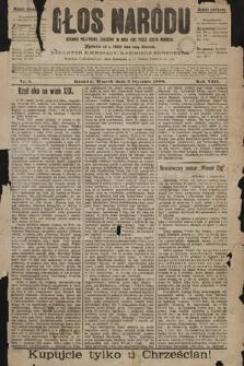 Głos Narodu : dziennik polityczny, założony w roku 1893 przez Józefa Rogosza (wydanie południowe). 1900, nr1