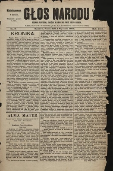 Głos Narodu : dziennik polityczny, założony w roku 1893 przez Józefa Rogosza (wydanie poranne). 1900, nr2