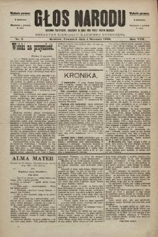 Głos Narodu : dziennik polityczny, założony w roku 1893 przez Józefa Rogosza (wydanie poranne). 1900, nr3