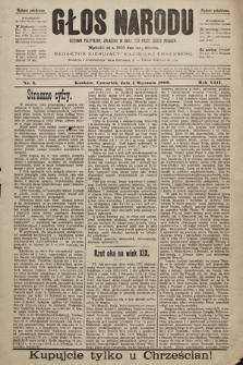 Głos Narodu : dziennik polityczny, założony w roku 1893 przez Józefa Rogosza (wydanie południowe). 1900, nr3