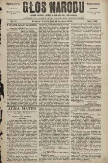 Głos Narodu : dziennik polityczny, założony w roku 1893 przez Józefa Rogosza (wydanie poranne). 1900, nr12