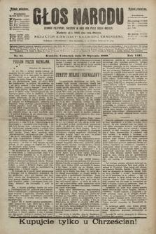 Głos Narodu : dziennik polityczny, założony w roku 1893 przez Józefa Rogosza (wydanie południowe). 1900, nr14