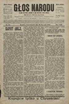 Głos Narodu : dziennik polityczny, założony w roku 1893 przez Józefa Rogosza (wydanie południowe). 1900, nr23
